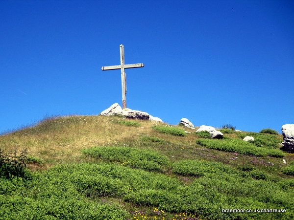 The summit cross on le Pinet