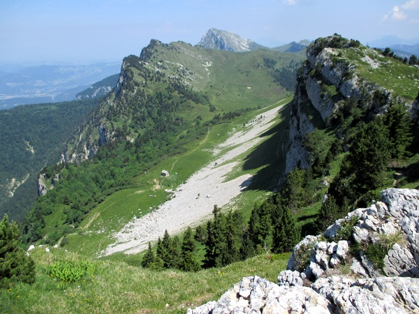 Photograph of the view from the summit of Rocher de Chalves, Grande Sure