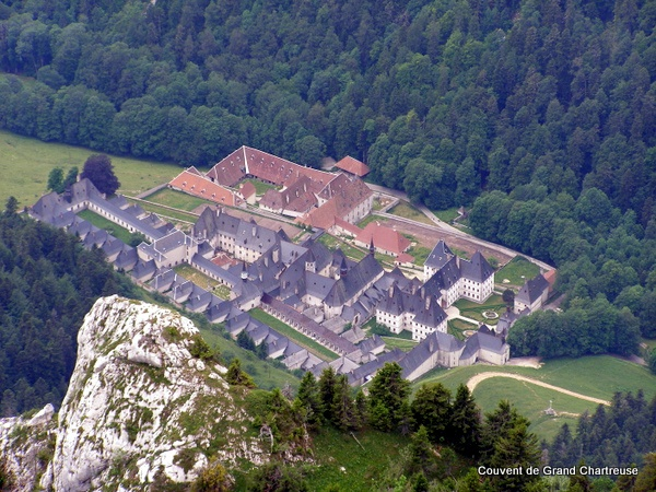 Photograph of the Couvent de Grand Chartreuse - from the Grand Som